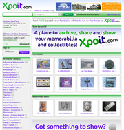 COLLECTIBLES DISPLAY in a virtual place on Xpoit.com