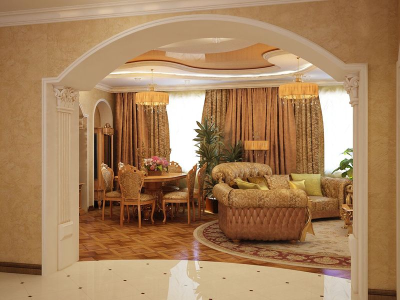 Indian House Interior Arch Design