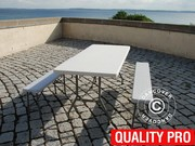 Party package 1 folding table (183 cm) + 2 folding benches (183 cm)