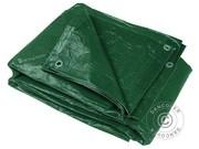 Tarpaulins PE 3x5 m (10 pcs). 65 g/m²,  Green