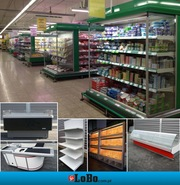 Second-hand shop equipment,  shelving,  refrigeration,  trolleys