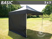 Folding canopy FleXtents 3x3 m basic set Black