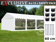Sale! Marquee Plus 6x12 m PVC white PANORAMA