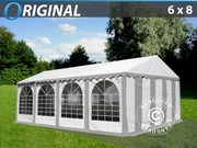 Marquee 6x8 m PVC grey/white