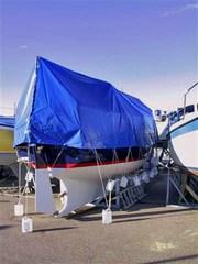 Boat tarpaulin 5x6 m PVC 570 g/m². Blue