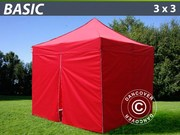 Folding canopy FleXtents 3x3 m basic set Red