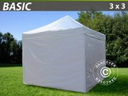 Folding canopy FleXtents 3x3 m basic set White