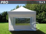 Pop up gazebo FleXtents PRO 3x3 m White,  incl. 4 sidewalls