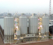 Cement silos,  cement terminal and handling complex.