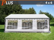 Marquee PLUS 4x6 m PE,  grey/white
