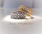 Celtic wedding bands gold. www.aidimacdaibhi.com