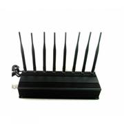 JAMMER 8 Antennas 22W GSM 2G 3G 4G WIFI 2.4Ghz UHF VHF RC GPS Loajck