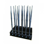 Signal Jammer up to 50m WiFi GSM GPS VHF UHF 12 Antennas