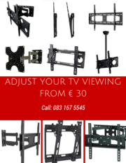 Tv brackets ,  flat,  tilting , swivel ,