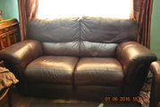 Suite 3 & 2 Brown leather - Fully Reclining