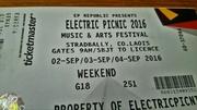 Electric Picnic W/E Camping Face Value