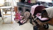 Pram and  Highchair and accessories