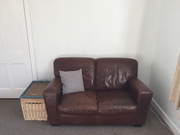 Free 2 seater leather couch