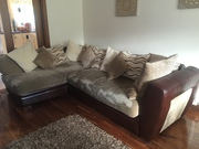 Corner couch & matching 3 seater Sofa excellent condition for sale