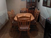 solid pine table plus 6 chairs