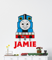 Personalised Thomas The Tank Engine Name Wall Decal Sticker