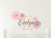 Delilah Flower Name Wall Decal