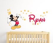 Personalised Mickey Mouse Wall Decal