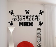 Minecraft personalised wall art decal sticker