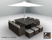12 Seater Marbella Garden Patio set