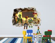 Toy Story 3D Smashed Wall Decal