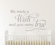 We Made a Wish Wall Decal Sticker