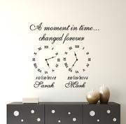 Wall art decal memory clocks